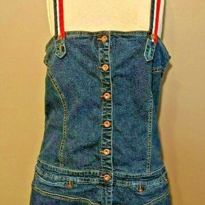 Tommy Hilfiger Vtg Denim  Suspender Dress XL